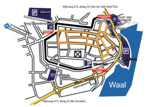 plattegrond parkeren binnnestad Tiel aug2016
