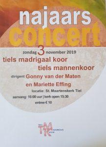 Najaarsconcert St. Maartenskerk 3 november 2019
